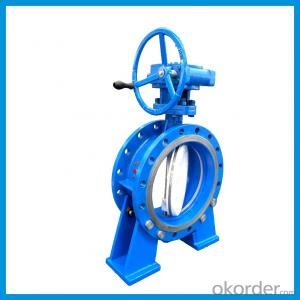 Double Flange three offset metal seal butterfly valve