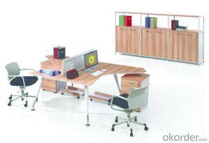 Executive Desk MDF Hight Quality Wood Melamine/Glass Office Table CN8706A