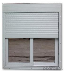 UPVC Slinding window with Roller Blinds Factory