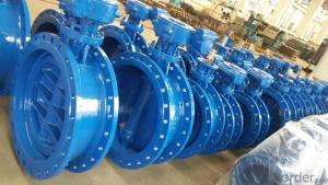 Resilient seated double eccentric flanged butterfly valve DN40-DN1800