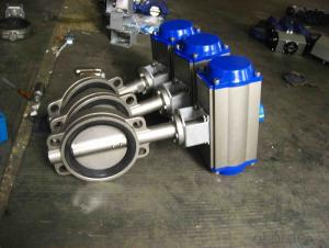 Pneumatic Wafer Butterfly Valve DN25-DN300