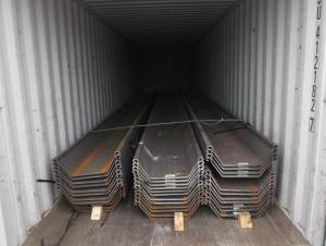 U Steel Sheet Pile/ 400*125*13mm/ Export Steel Sheet Pile with High Quality