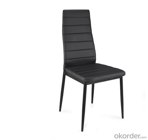 Fashion Design Dinning Chair with Leather Seat and Metal Legs