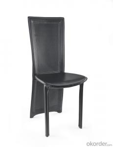 Modern Design Dinning Chair with Leather Seat and Metal Legs