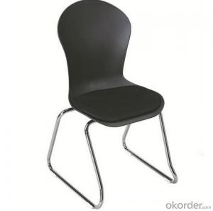 Dinner Chair with Plastic Seat and Metal Frame