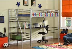 Hot Selling Twin over Twin Metal Bunk Bed with Stairs 707 From Fortune Global 500 Company