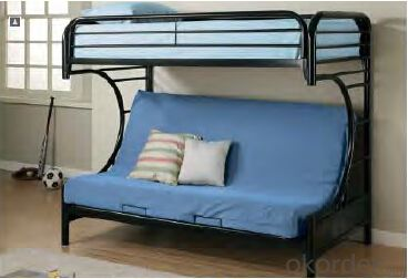 Hot Selling Metal Bunk Bed with futon 2253 From Fortune Global 500 Company
