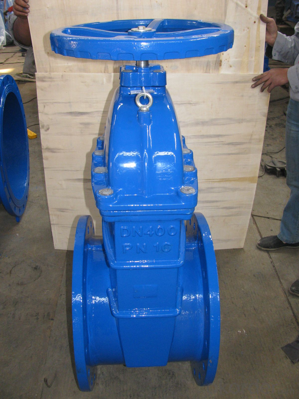 Slim Disc Wafer Butterfly Valve Cast Iron / Ductile Iron Material