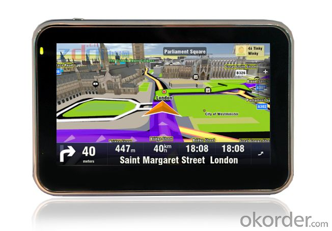 4.3 inch GPS Navigation System with 480*272 Pixels Resolution, AT550 600MHz CPU