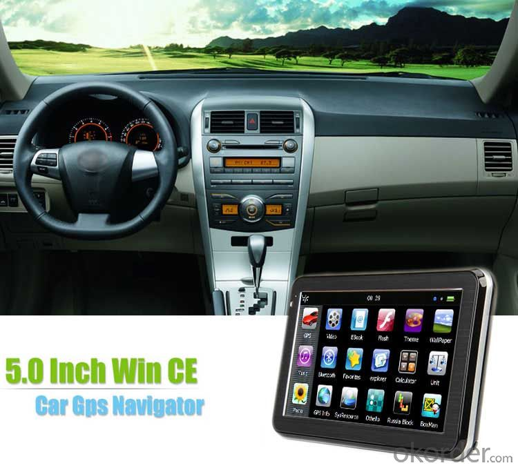 5 inch Car GPS Navigation Mstar 2531 800MHz Support AVIN Bluetooth FM and ISDB-T