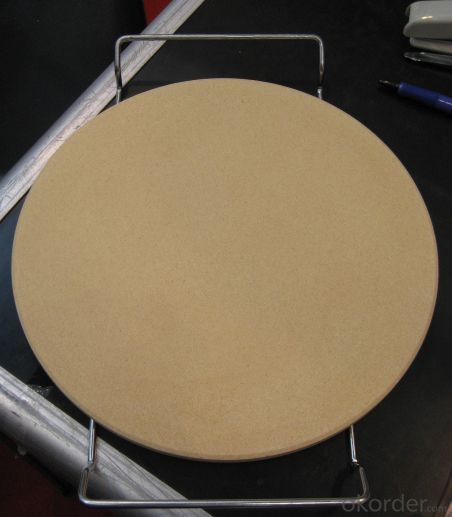 Round Cordierite Pizza Stone Dia15inch for pizza cooking