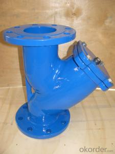 Ductile Iron Flange connection stainless steel y strainer ductile iron valve