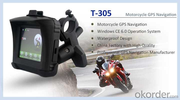 3.5 inch Rugged Waterproof Motorcycle GPS Navigation Support Bluetooth