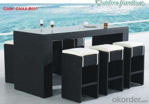 Outdoor Furniture Garden Rattan Bar Set Garden Furniture CMAX-E051
