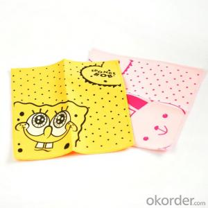 Glasses cleaning cloth with custom heat and hot transfer