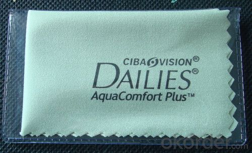 Glasses cleaning cloth with company informations