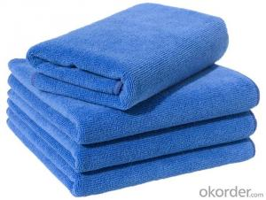 Microfiber cleaning towel with custom material