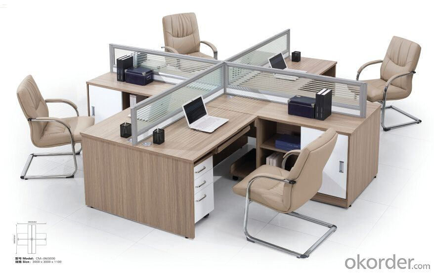 Office Executive Table  Hight Quality Wood Melamine/Glass Desk  3116