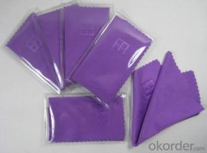 Glasses cleaning cloth with custom logo design