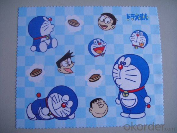 Glasses cleaning cloth with cartoon design
