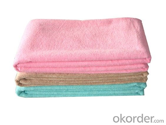 Microfiber cleaning towel with pure color design