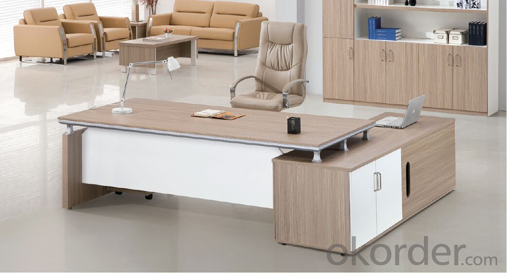 Office Table/ Excutive Desk Modern Wooden MDF Melamine/Glass Modular D245