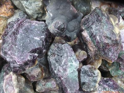 Fluorite 90%  Chemical Composition: Caf2  Small size lump