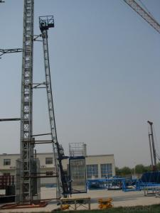 Curved and Inclined Building Hoist for Power Plant
