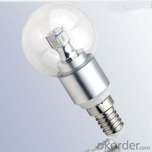 Clear Glass Cover 3W LED Bulb Lighting E14