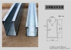 Solar Panel Supporting Structure Steel Rack