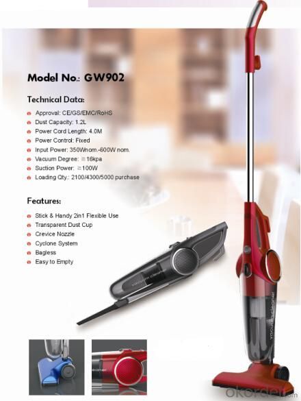 2 in 1stick vacuum cleaner with HEPA filter#GW902
