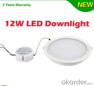 High Brightness Slim SMD5630 12W LED Downlight