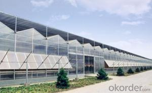 High light transmission modular greenhouse for flower garden center