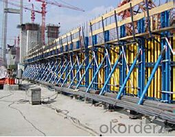 Single-side climbing bracket for formwork and scaffolding system