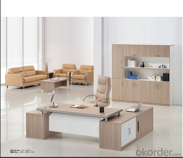 Office Table/ Excutive Desk  Modern Wooden MDF Melamine/Glass Modular AM002