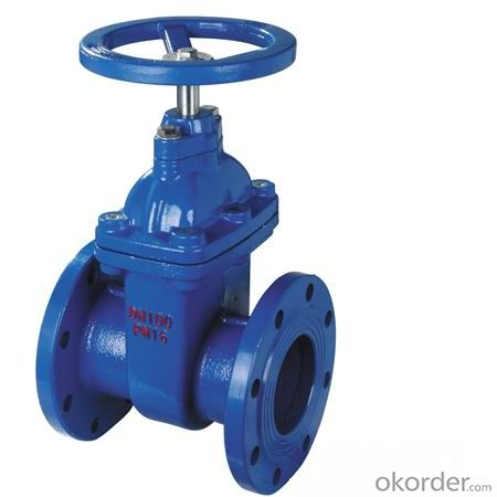 Flanged Resilient NRS Gate Valve in good price & blue color