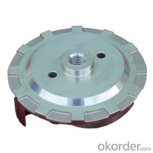 Two pieces of the impeller in investment casting