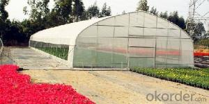 Single span plastic film greenhouse for sales