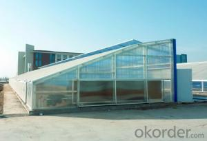 Glass sheet greenhouses for green plants/flowers