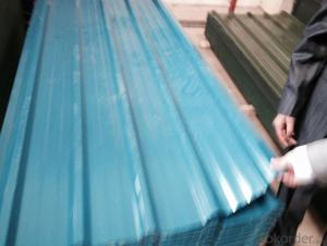 Color coated corrugated steel sheets for roofing