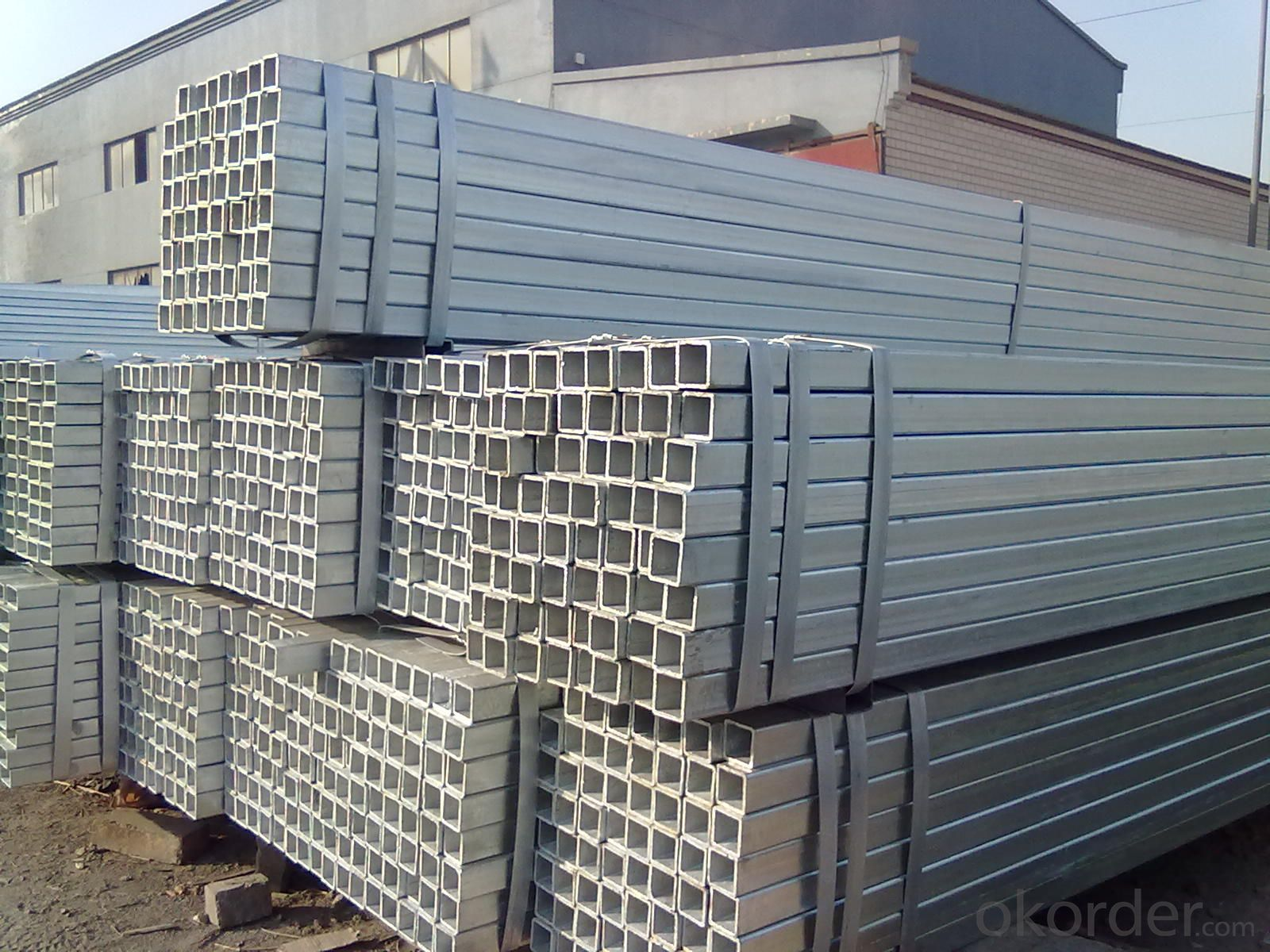 Pipe for building materials galvanized hollow section