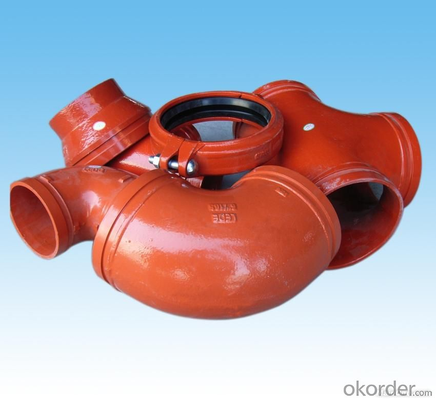 Ductile Grooved Fitting of Flexible Coupling Street Elbow Plug