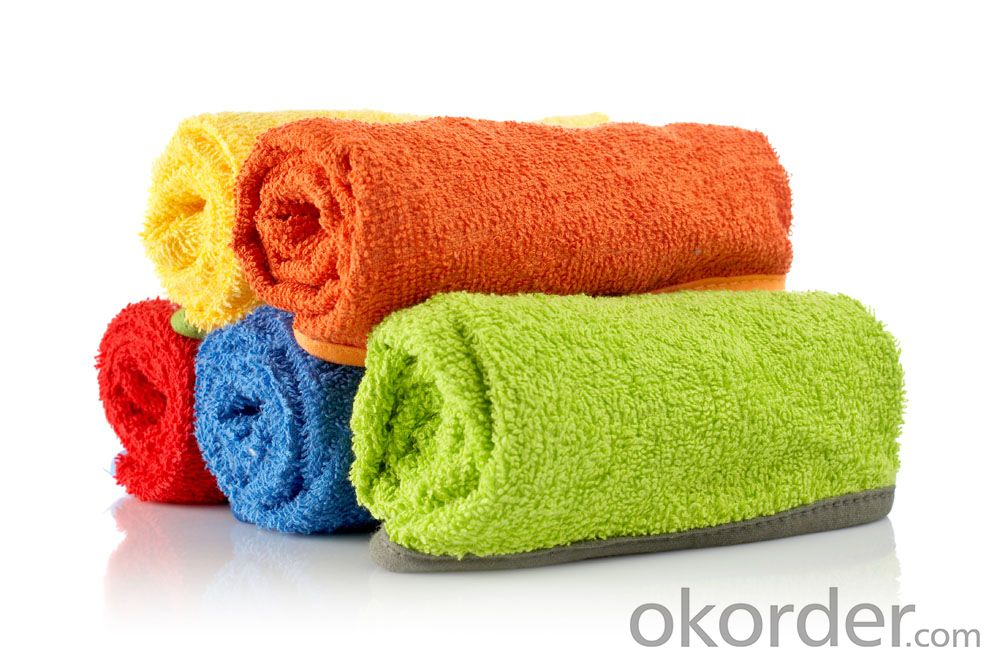Microfiber cleaning towel for low pricing with five color