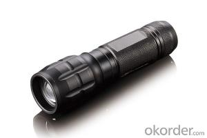 Black Case Aluminum Led Flashlights and Torch