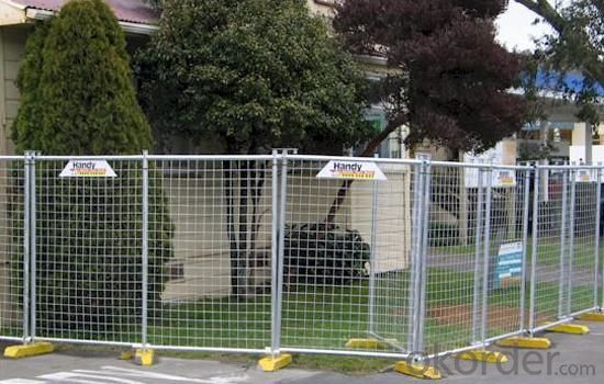Galvanized powder coated portable mobile temporary fence