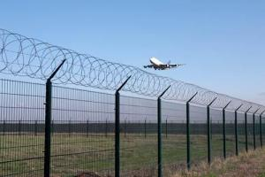 High Airport Greening Galvanized Heavy Duty Safety Fence