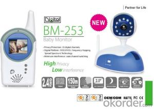 2.4GHz Wireless Digital Baby Monitor 150m communication range;