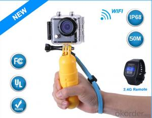 NEWEST Sport Camera 1080P 30fps 150 Degree with 30 Metre Dash Camera wifi Smart Watch Control