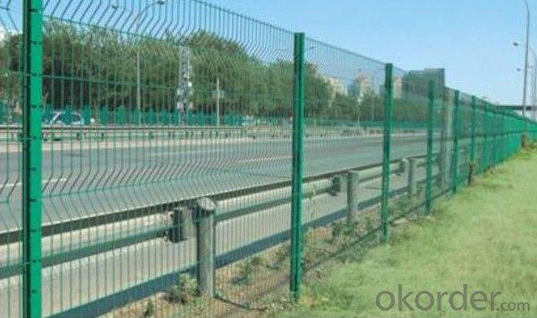Galvanized Pvc Coated High Way Road Fence