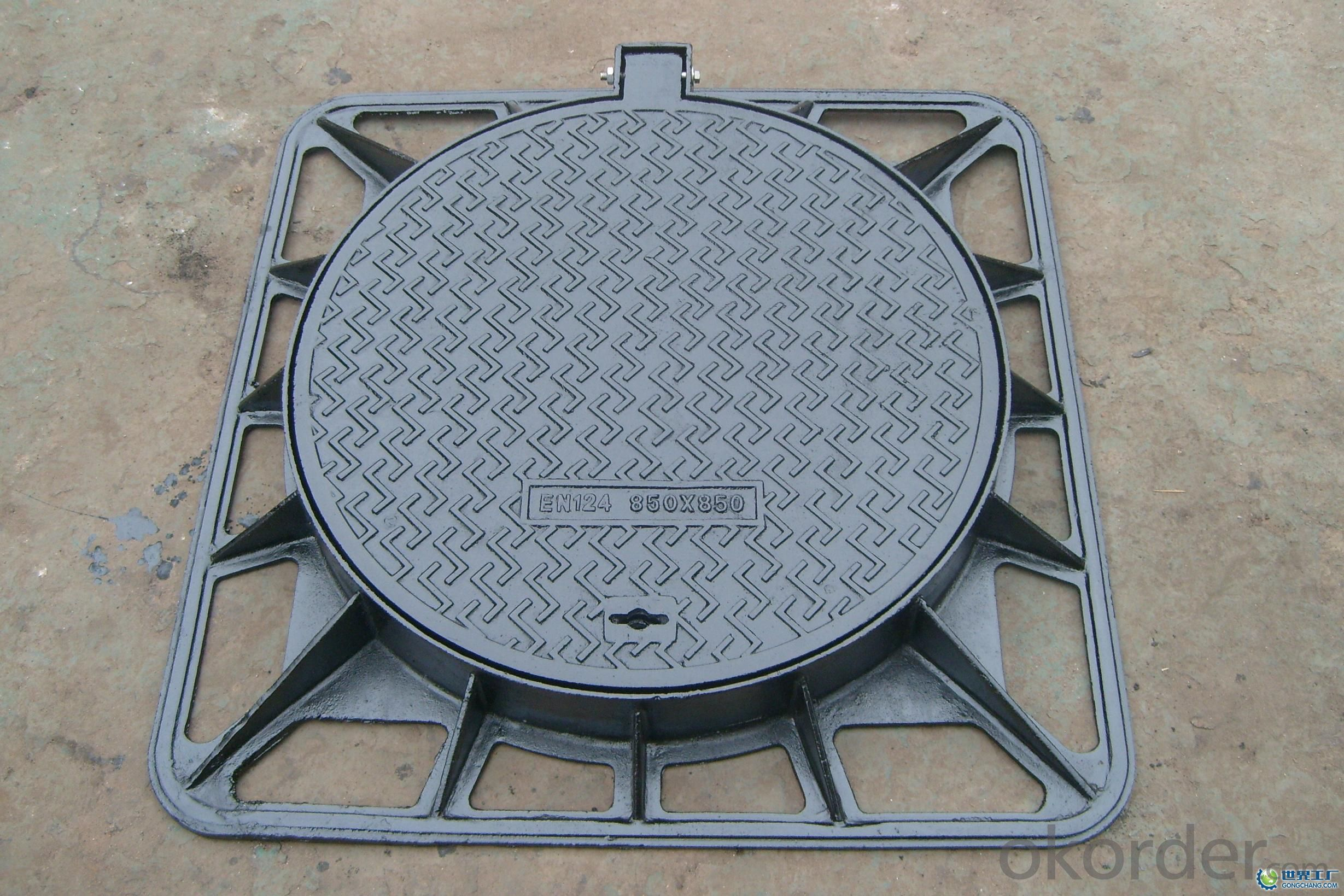 Ductile Iron Manhole Cover ΕΝ124 From China